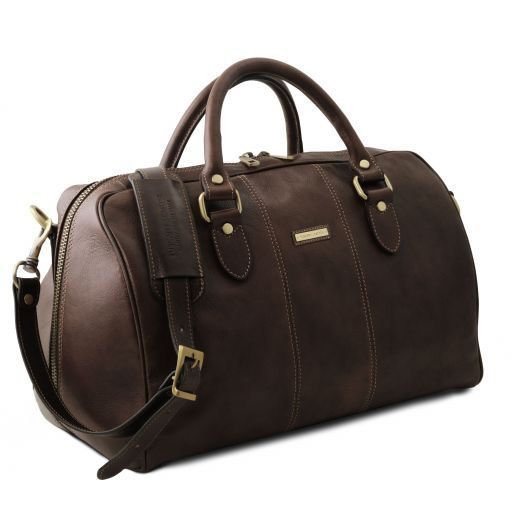 Lisbona - Travel leather duffle bag - Small size_19