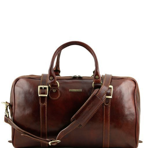 Berlin - Travel leather duffle bag - Small size_7