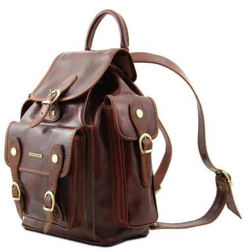 Pechino Vegetable Tanned Leather Backpack_5