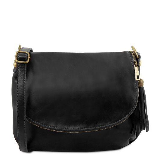 TL Soft Leather Shoulder Bag with Tassel_17