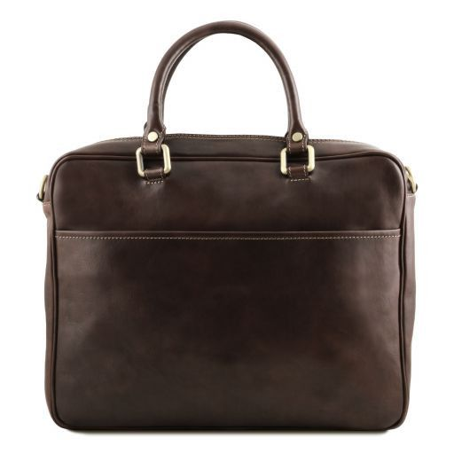Pisa Vegetable Tanned Leather Laptop Briefcase_19