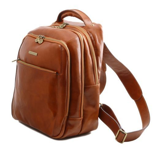 Phuket Vegetable Tanned Leather Laptop Backpack_10