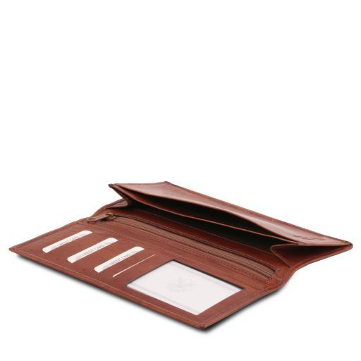 Full Grain Leather Vertical Bifold Wallet For Men_2