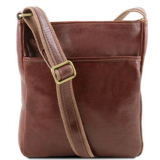 Jason Vegetable Tanned Leather Messenger Bag for Men_1