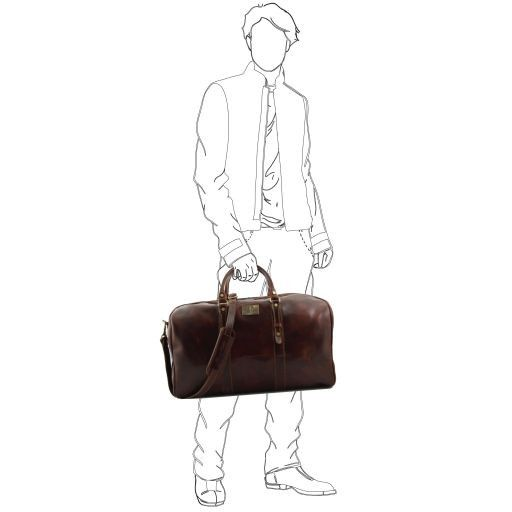 Francoforte - Exclusive Leather Weekender Travel Bag - Large size_7