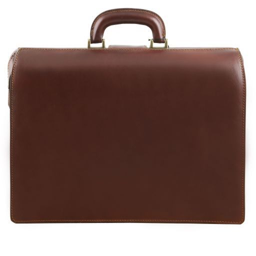 Canova Vegetable Tanned Leather Briefcase 3 compartments_4