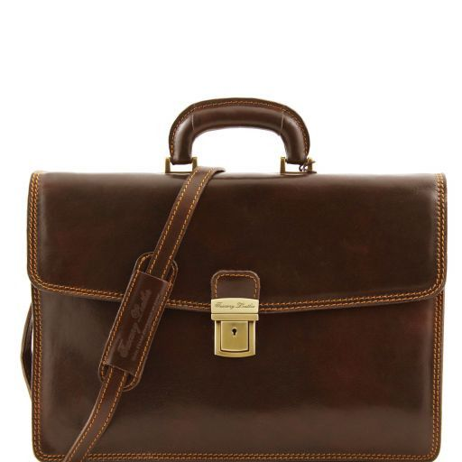 Amalfi Vegetable Tanned  Leather Briefcase_6