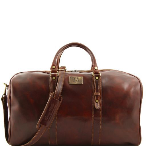 Francoforte - Exclusive Leather Weekender Travel Bag - Large size_8
