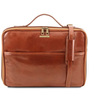 Vicenza Vegetable Tanned Leather Laptop Briefcase_1
