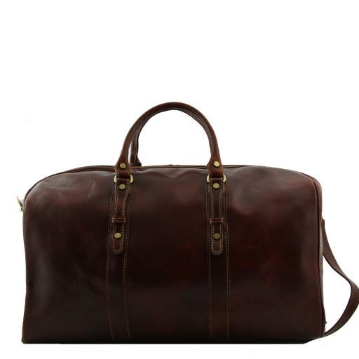 Francoforte - Exclusive Leather Weekender Travel Bag - Large size_3