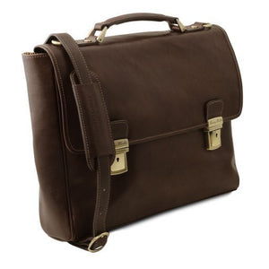 Trieste Vegetable Tanned Leather laptop Case_2