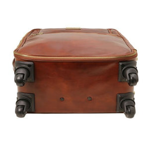 TL Voyager - 4 Wheels vertical leather trolley_2