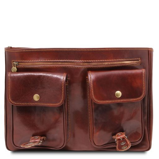 Modena Vegetable Tanned Leather Briefcase_5