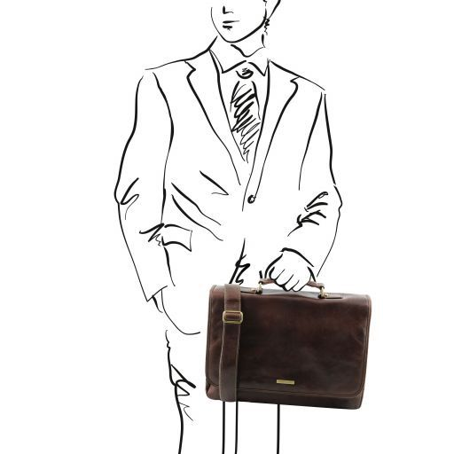 Mantova Vegetable Tanned Leather SMART Briefcase_16