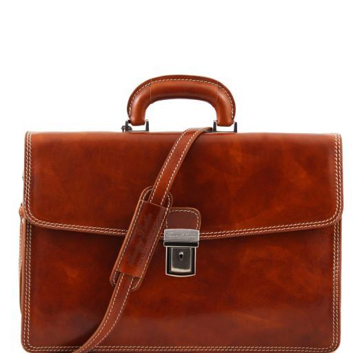Amalfi Vegetable Tanned  Leather Briefcase_7