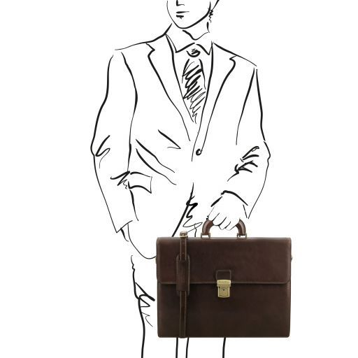Parma Vegetable Tanned Leather Briefcase _11