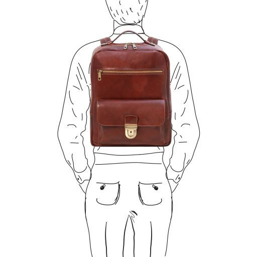 Kyoto Vegetable Tanned Leather Laptop Backpack_2