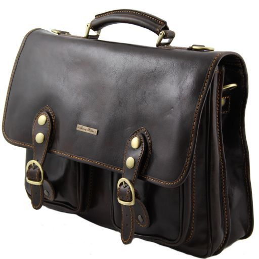 Modena Vegetable Tanned  Leather briefcase - Large size_6