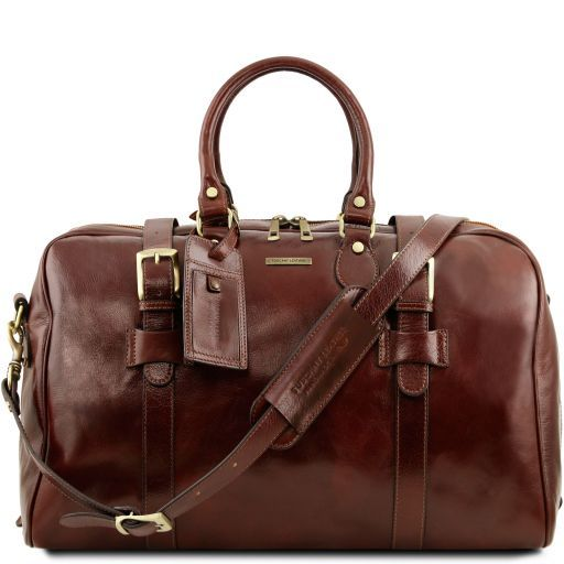 TL Voyager - Leather travel bag with front straps - Large size_1