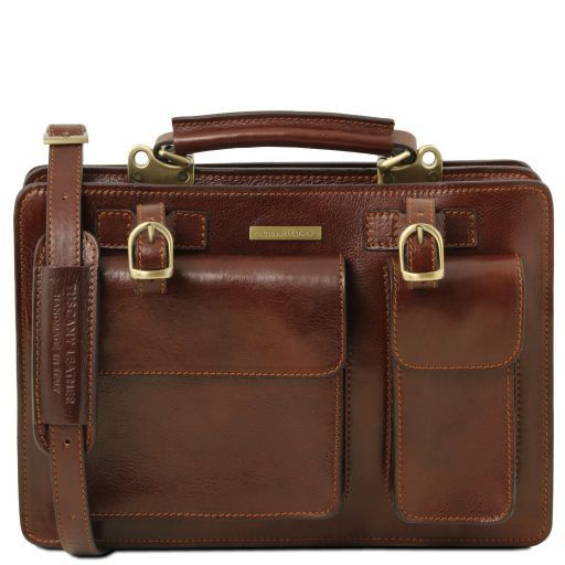 Tania Vegetable Tanned Leather Women Business Bag (L)_1
