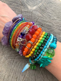 Colorful Bead Bracelet Set