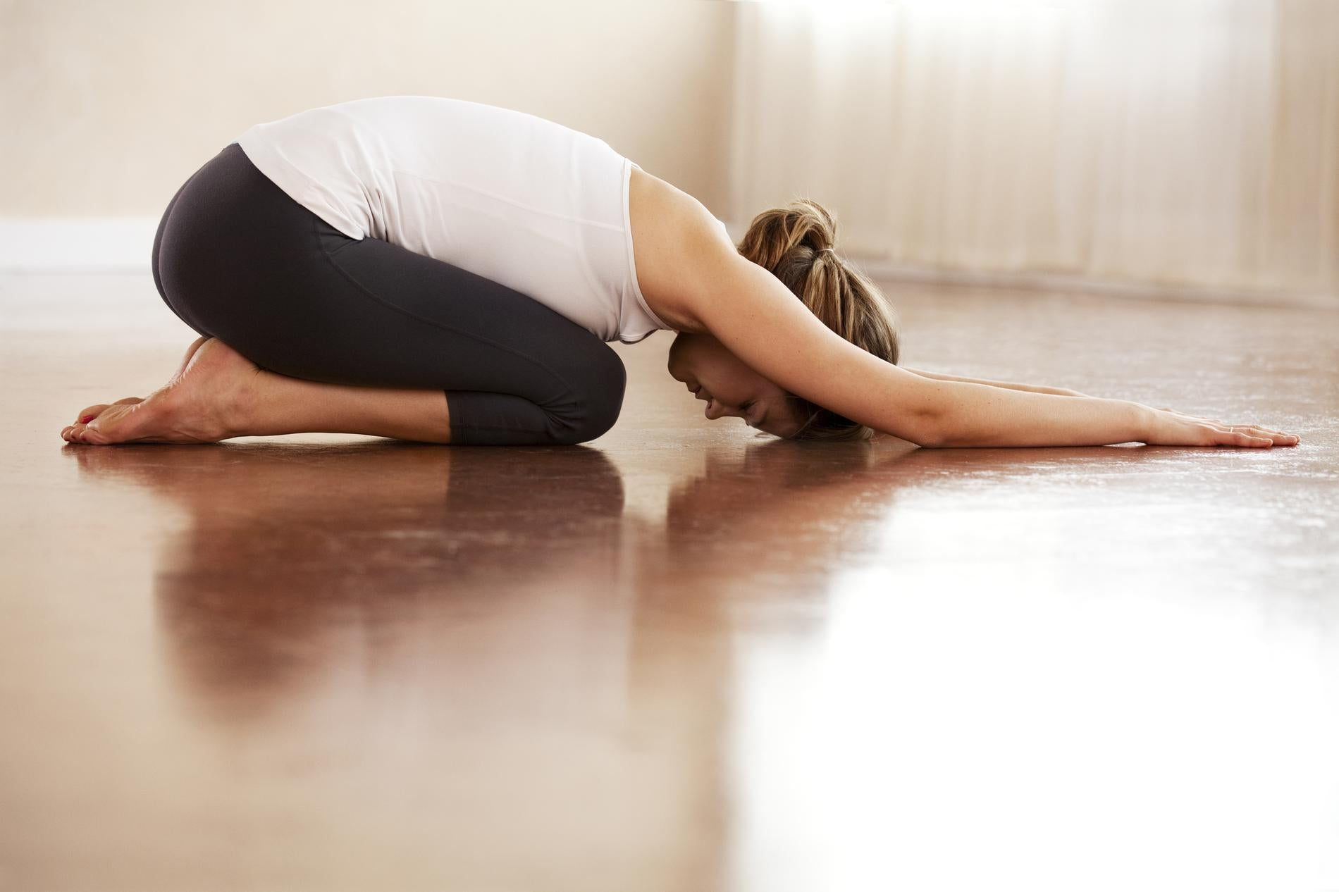 Position yoga contre le stress