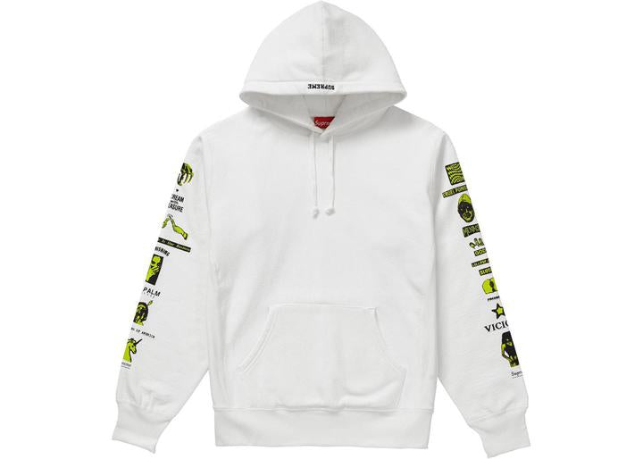 Supreme Menace Hooded Sweatshirt White