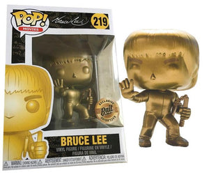 Funko Pop! Movies #219 Gold Bruce Lee Exclusive Bait Stickered POP! Vinyl
