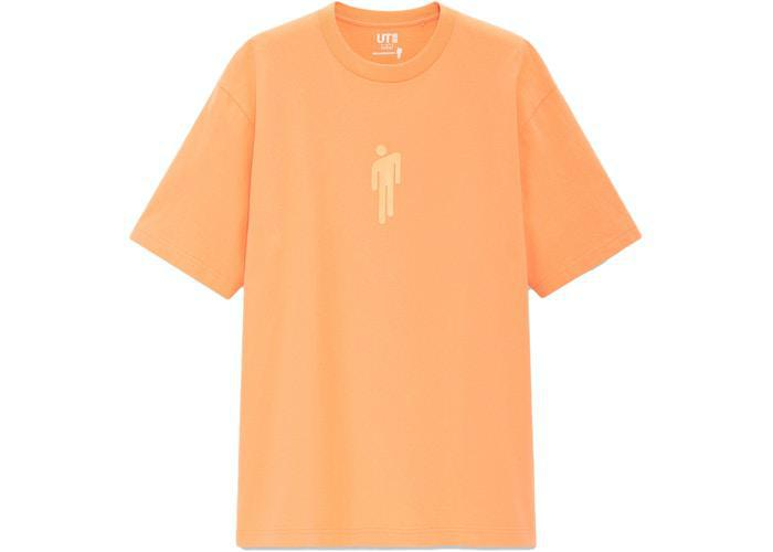 Billie Eilish Logo T-Shirt (US Womens Sizing) Orange