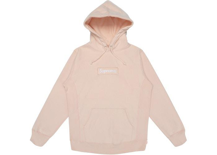 Supreme Box Logo Hoodie Peach (Pre - Owned)