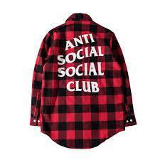 Anti Social Social Club Red Flannel