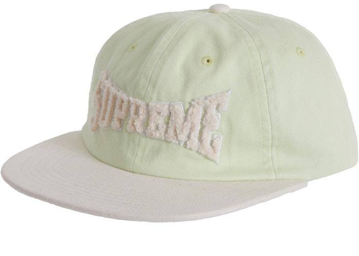 Supreme Chenille Logo 6-Panel Pale Lime