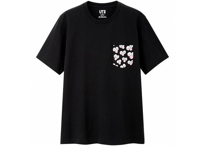 KAWS x Uniqlo BFF Pocket Tee Black
