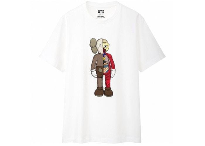 KAWS x Uniqlo Flayed Tee (Japanese Sizing) White