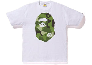Bape Big Ape Head Tee Splinter Camo White/Olive