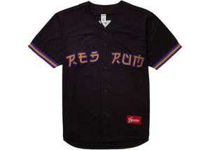 Supreme Red Rum Baseball Jersey Black