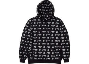FTP x Undefeated All Over Hoodie Black