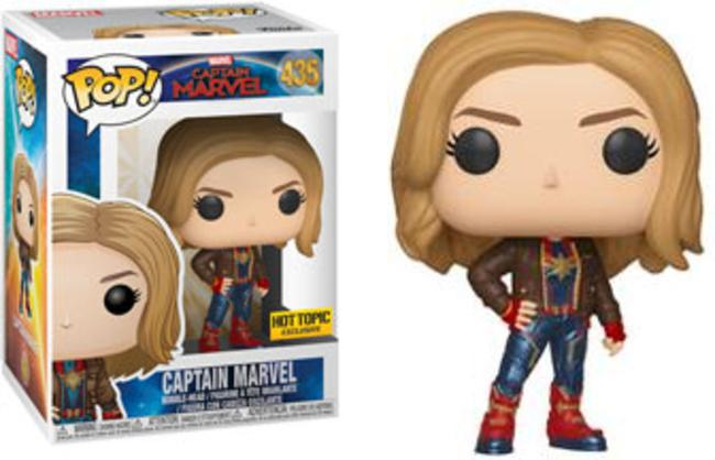 Funko Pop Movies Marvel #435 Captain Marvel Hot Topic Exclusive New