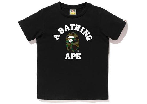 BAPE 1st Camo College Tee L Black/Green