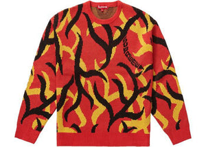 Supreme Tribal Camo Sweater Red (Pre - Owned)