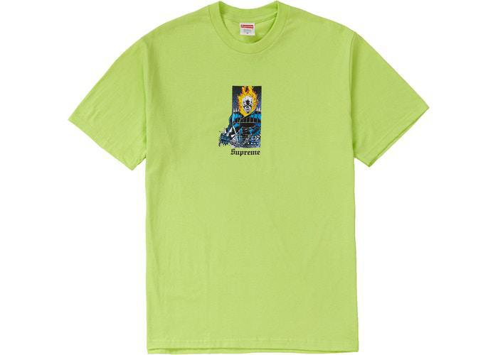 Supreme Ghost Rider Tee Neon Green