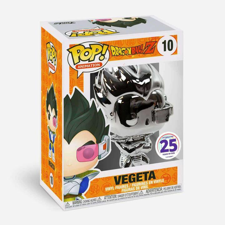 Funko Pop! Vegeta Silver Chrome #10 Dragon Ball Z DBZ Funimation Exclusive