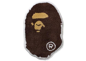 BAPE Ape Head Rug Brown