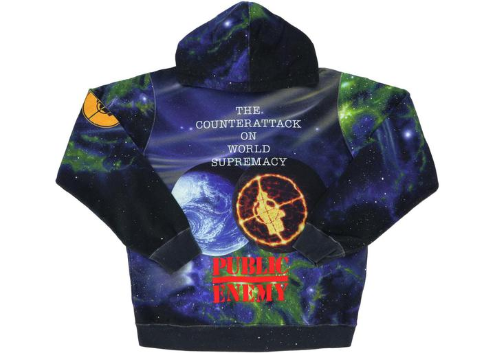 supreme undercover public enemy hooded multicolor