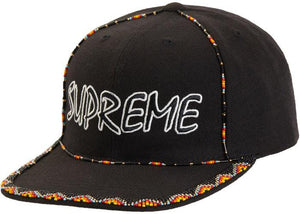Supreme Beaded 6-Panel Black