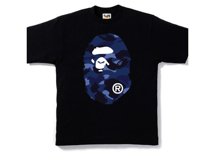 Bape Big Ape Head Tee Color Camo Blue/Black