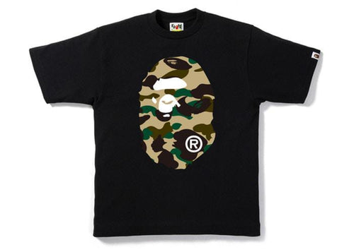 BAPE 1st Camo Big Ape Head Tee Black/Yellow