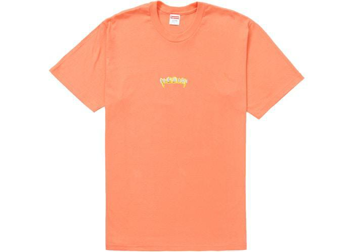 Supreme Fronts Tee Neon Orange