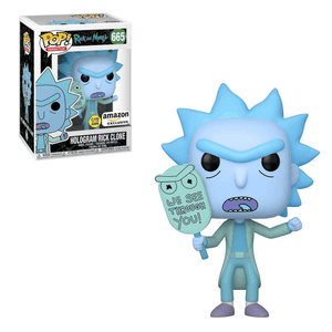 Hologram Rick Clone (Glow In The Dark) Funko Pop