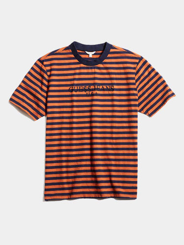 Guess x Asap Rocky Tee Orange/Navy Blue (Pre Owned)